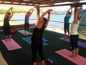 Yoga platform crete